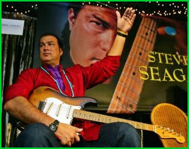 STEVEN SEAGAL IS PROMOTING HIS ALBUM AT BANGKOK